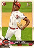 2018 Bowman Prospects #BP48 Hunter Greene Pre-Rookie Baseball Card - His 1st Bowman Card!