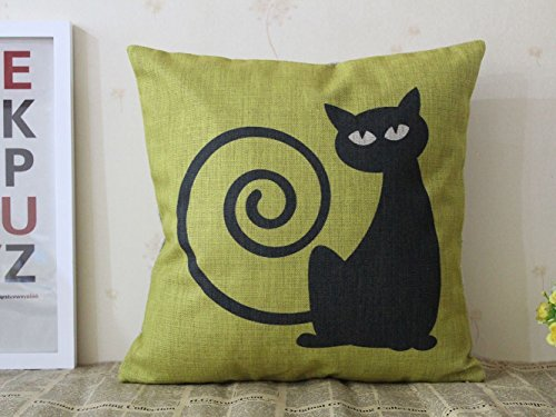 CoolDream Decorative Cotton Linen Square Throw Pillow Case C