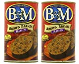 in a can - B&M Original Brown Bread in Can: Raisin (16 oz Cans) 2 Pack by B&M