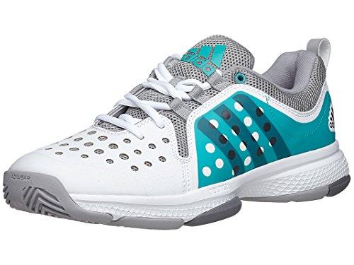 adidas Performance Women's Barricade Classic Bounce W Training Footwear,White/Night Grey Metallic/Shock Green,9 M US