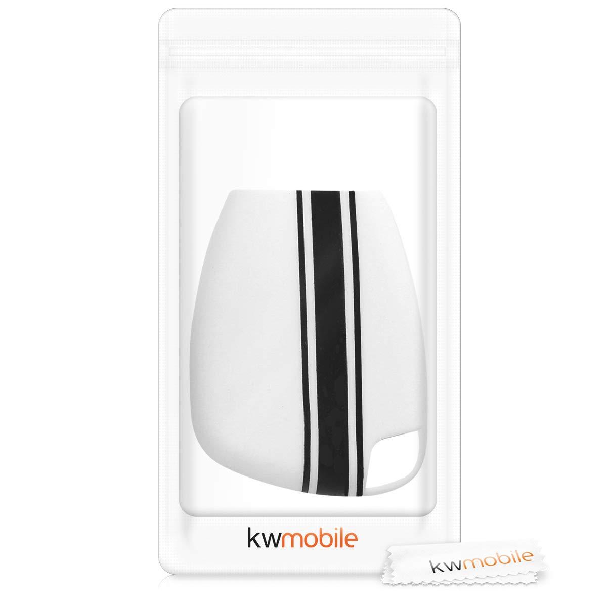 de Suave kwmobile Funda para Llave de 2-3 Botones para Coche Carcasa Protectora Silicona - Case de Mando de Auto con dise/ño Dont Touch my Key