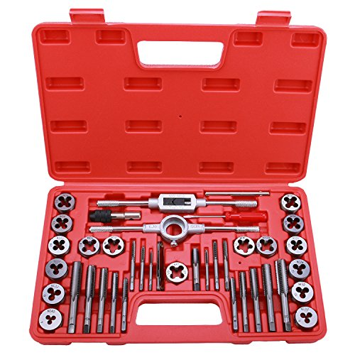 Best Choice 40-Piece Tap and Die Set - SAE Inch Sizes | Essential Threading Tool with Storage Case (Thread Tap And Die Set)