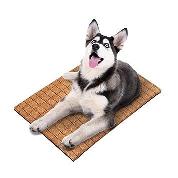 Grande Mascota Enfriamiento Estera Cama Perro Verano Calor Alivio No Tóxico Amortiguar Almohadilla Bambú Perrito Mascotas