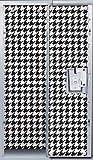 Black/White Houndstooth Locker Wallpaper