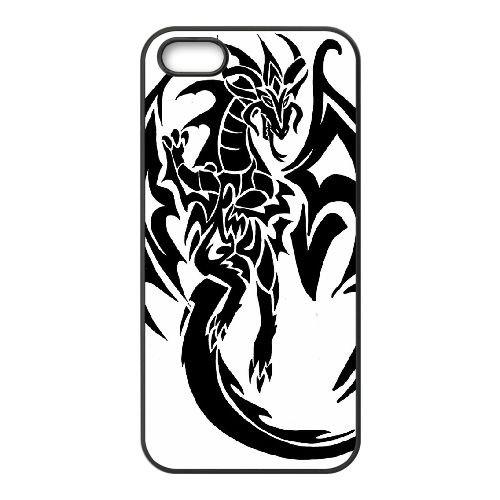 Dragon Tribal 014 coque iPhone 5 5S Housse téléphone Noir de couverture de cas coque EOKXLLNCD19382