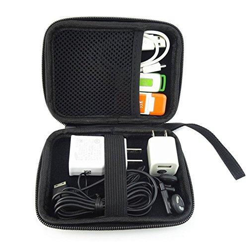 Elvam EVA Shockproof Waterproof Portable Hard Drive Case Bag / Cable Case Bag / USB Flash Drive Case Bag / Power Bank Case Bag / GPS Case and Digital Camera Case - Pink by Elvam (Image #2)