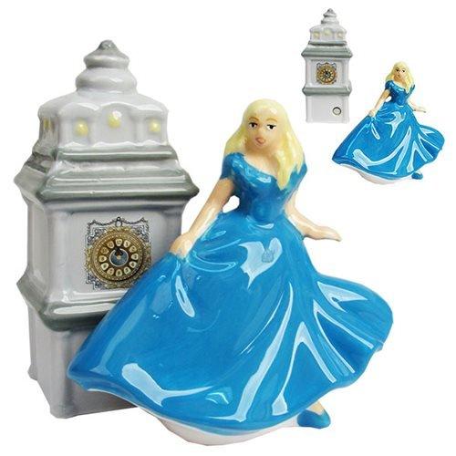- Westland Giftware Disney Cinderella When The Clock Strikes Midnight Magnetic Ceramic Salt & Pepper Shaker Set, Multicolor