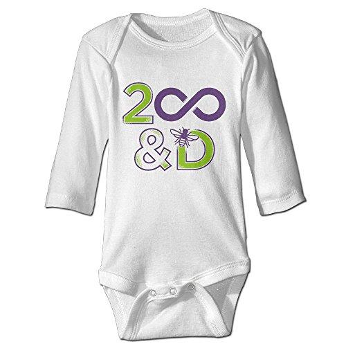 D Crawl Walk Volleyball Long Sleeve Baby Bodysuit Romper One Piece White 24 Months (Infinite Braid Ring)