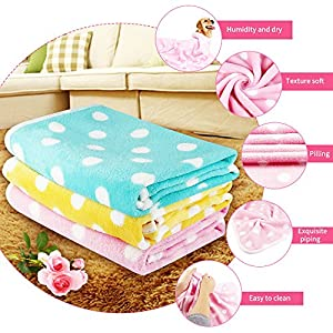 ONSON Pet Dog Blanket, 3 Colors Super Soft Fleece Fabric Pet Blankets for Small Dog Puppy Cat