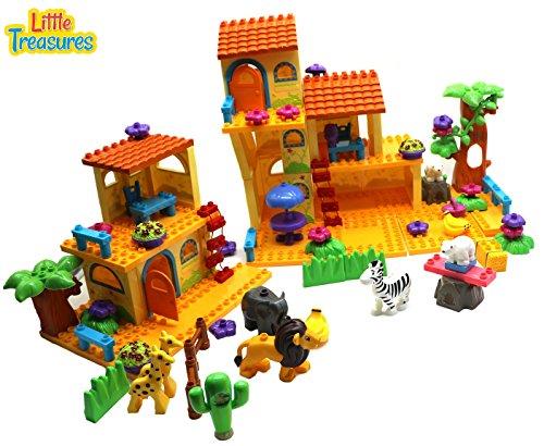 Little Treasures Wilderness House – Building block 133 pieces, compatible toy set for kids