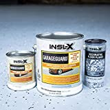 INSL-X EGG310S9A-1K Garage Guard Waterbased Epoxy Semi-Gloss Paint 1 Gallon Kit Showroom Gray
