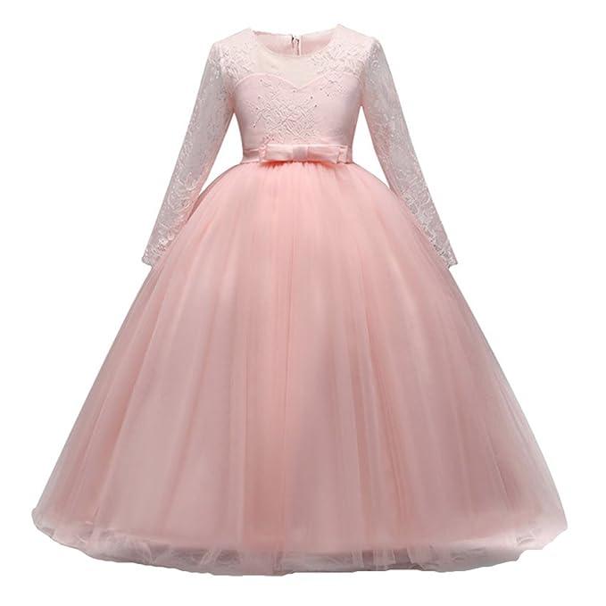 Vestido de Niña Floral Bowknot Vestido Princesa Vestido Bautizo Bebé ...