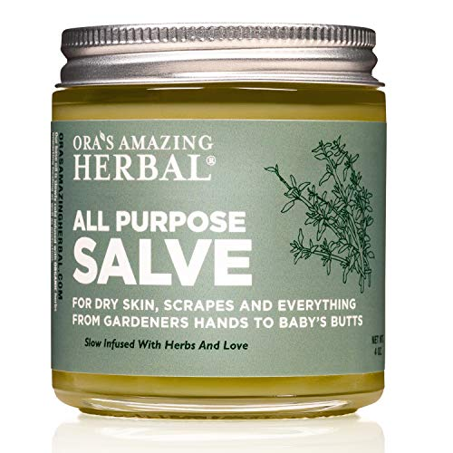 All Purpose Salve, Healing Ointment and Moisturizer for Dry Itchy Skin, Natural Skin Care, Dry Elbows, Cracked Heels, Cuticle Conditioner, Organic First Aid Ointment, Healing Salve, Paraben Free