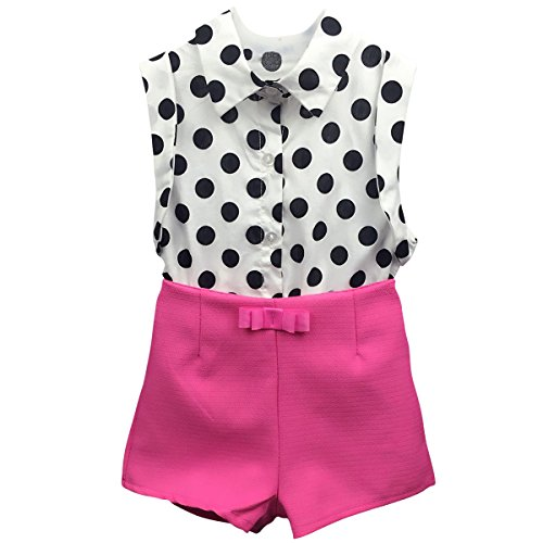 Jastore® Summer Girls Clothing Sets Girl Baby Clothes Polka Dot Shirt +Pants (2T, - 2t Girl Baby Clothes