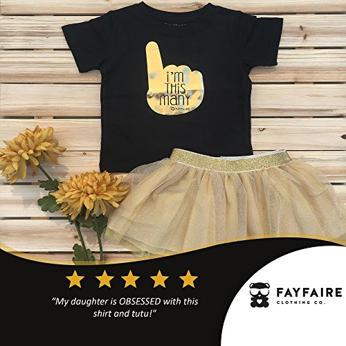 Fayfaire First Birthday Shirt Outfit: Boutique Quality 1st Bday I'm This Many 12M by Fayfaire (Image #2)