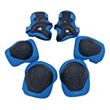 Kipten 6pcs Set Kid Roller Skating Skateboard Elbow Knee Pads Wrist Protective Adjustable Guard Gear Pad Children Cycling Bicycle Sports