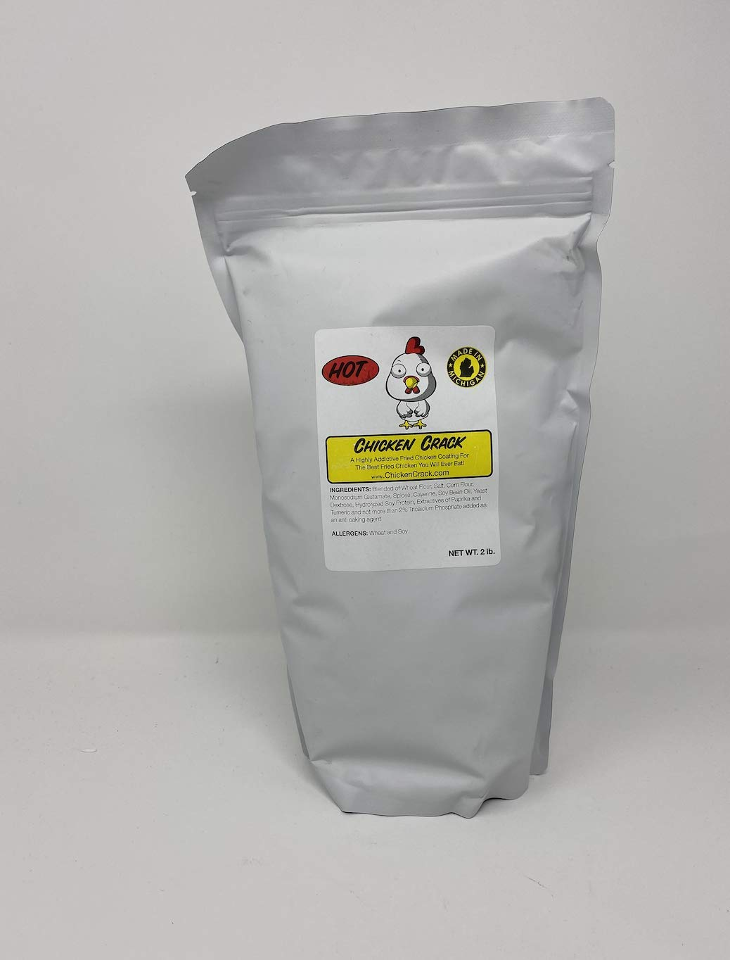 Chicken Crack Hot and Spicy Fried Chicken Coating, Large 2 Pound Bag