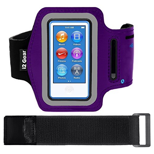 (i2 Gear Armband Case for Apple iPod Nano 8G - Purple Matte)