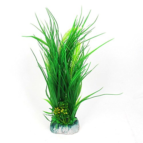 Jardin Plastic Aquascaping Plant Grass for Fish Tank, 17-Inch Height, Green by Jardin