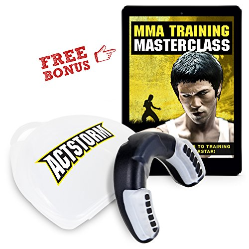 Custom Soft Mouth Guard with Vented Case for Adult, Protection, Comfort and Low Profile Mouthpiece by Actstorm, Designed for Boxing, MMA, Football, Basketball, Martial Art and All Contact Sports