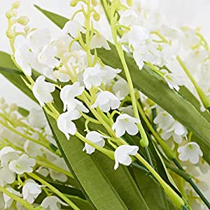 Factory Direct Craft Artificial Vinyl Lily of The Valley Bush for Indoor or Outdoor Decorating, Crafting and Displaying 108