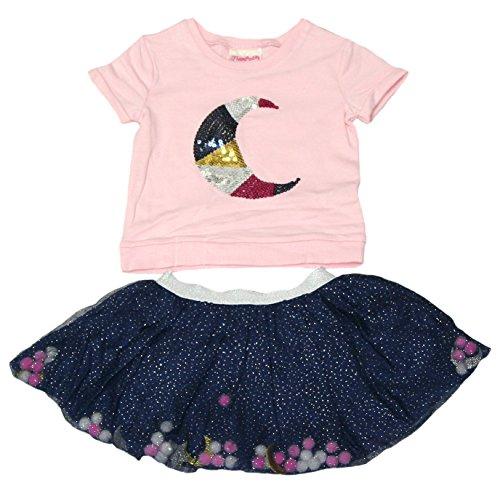 Flapdoodles Girls Celestial Skirt Set (Rose Shadow, 6) -