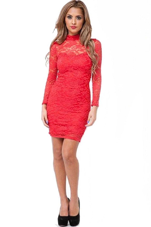 Fashion Dazzle Women's Kitsa Long Sleeve Lace Dress
