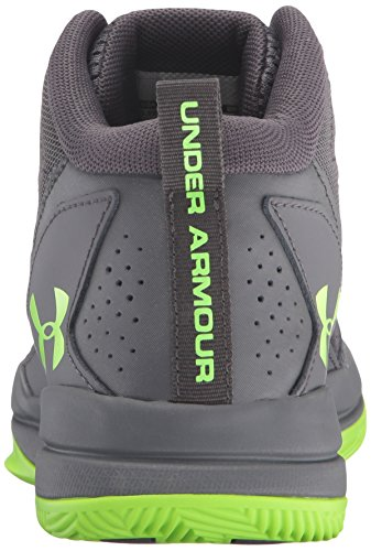 Under Armour Ua Bgs Jet Mid, Chaussures de Basketball Garçon, Gris (Stealth Gray 008), 36 EU