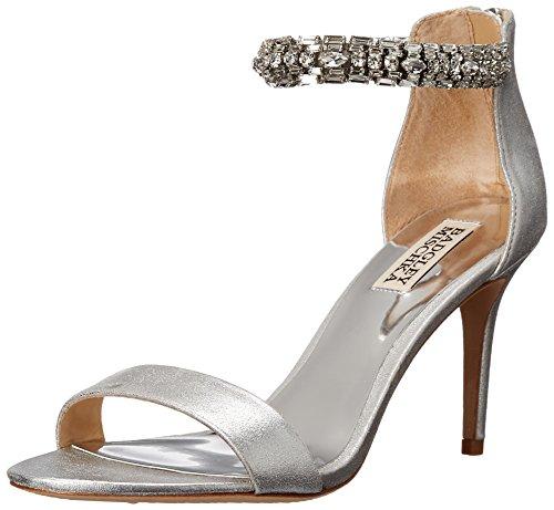 Badgley Mischka Women's Carlotta II Dress Sandal, Silver, 9 M US by Badgley Mischka