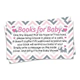 Baby : Pink and Gray Elephant Baby Girl Shower Books for Baby Request Cards (Set of 20)