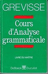 Cours d'analyse Grammaticale Livre du maitre