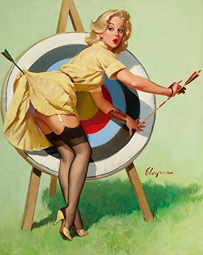 Gil Elvgren Giclee Canvas Print Paintings Poster Reproduction(A Near Miss)