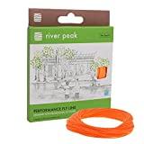 river peak FLY LINE DT 5 F #5 Double Taper Floating 100ft(30.5m) (Orange) For Sale