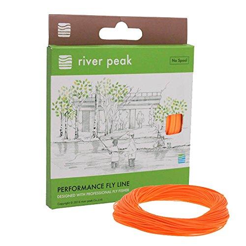 river peak FLY LINE DT 5 F #5 Double Taper Floating 100ft(30.5m) (Orange) For Sale