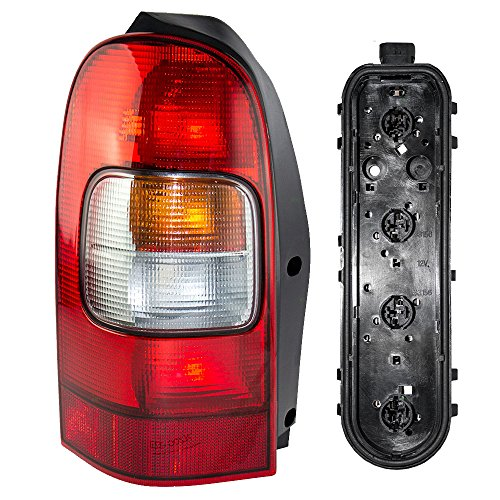 Drivers Taillight Taillamp Lens with Circuit Board Assembly Replacement for Chevrolet Oldsmobile Pontiac Van 10353279 12335926 (Pontiac Montana Circuit Board Tail Light)