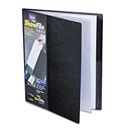 Cardinal by TOPS Products SpineVue ShowFile Display Book with Wrap Pocket, 8.5 x 11 Inch Sheet Size, 12 Sleeves, Black (51132CB)