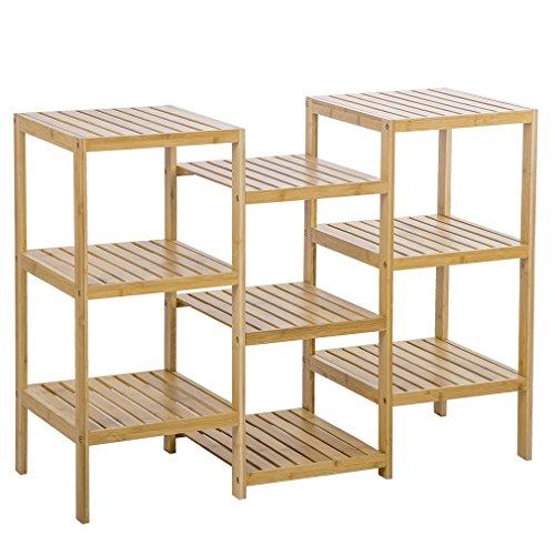 PayLessHere Bamboo Storage Shelf Rack Plant Display Stand 9-