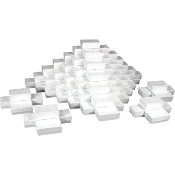 Amazon Com White Jewelry Gift Boxes Cotton Filled 21 Case Of 100