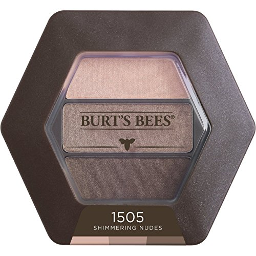 Burt's Bees 100% Natural Eye Shadow Palette with 3 Shades, Shimmering Nudes, 0.12 Ounce