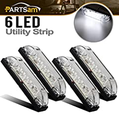 "( 4 ) 4"" Slim Line LED Utility Strip Lights , 6 diodes , White Color Long Lasting Strip Light -- a Multi Purpose Solution --Submersible - 100% waterproof --Circuit board completely sealed in epoxy to resist water, corrosion and vibration --Su..."