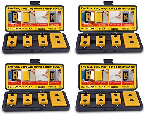 Calculated Industries 8105 Blind Mark Drywall Electrical Box Cutout Tool Powerful Rare-Earth Magnetic Targets 3 and Locator Kit 12 Targets 4 Case