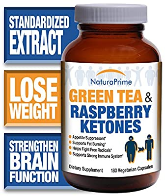 Results-Driven Green Tea with Fat-Burning Raspberry Ketones - Great for Weight Loss - 100% Guaranteed! (1 bottle)