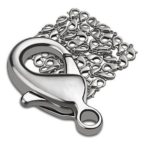 20 X SILVER PLATED LOBSTER CLAW CLASPS 14 X 7 MM 00838