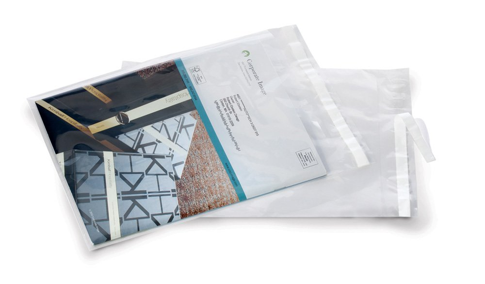 12'' x 15.5'' x 2 mil Clear Plastic Postal-Approved Lip and Tape Bags (Case of 1,000)