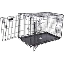 "Petmate ""ProValu Wire Dog Crate, Two Doors, Precision Lock System, 6 Sizes"