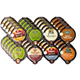 NEW! 40 Count - Flavored Coffee VUE Cups Variety Pack (Limited Edition Pumpkin Spice, Folgers Caramel Drizzle, Van Houtte French Vanilla, GM Caramel Vanilla Cream, GM Hazelnut, GM French Vanilla, Folgers Vanilla Biscotti & Gloria Jean's Hazelnut)