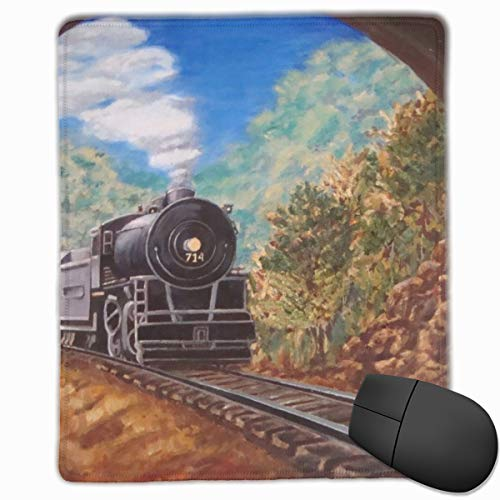 Yuotry Smooth Mouse Pad Tunnel Train Mobile Gaming Mousepad Work Mouse Pad Office Pad]()