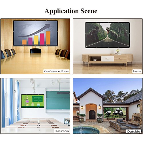 120 Inch Projector Movie Screen, ASINNO Portable Folding Indoor Outdoor 4K HD 16:9 Movie Projection Screen for Meeting/Home/Cinema/Theater /Presentation by ASINNO (Image #5)