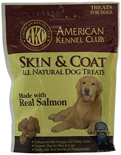 American Kennel Club Salmon All Natural Treats for Skin and Coat, 6 ounce (Organic Treats Skin & Coat)
