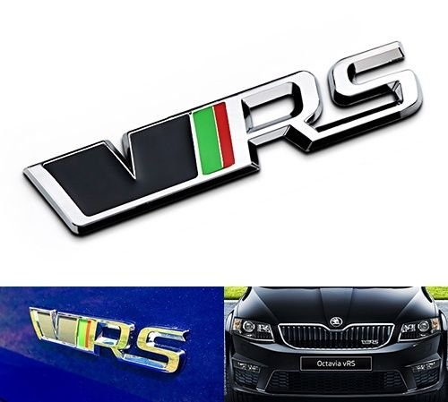 VRS Emblem Badge Logo Metal Chrome 3D